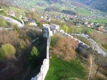 中世纪城堡Stari毕业在采列在斯洛文尼亚 免版税库存图片