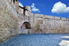 中世纪城市墙壁 库存图片