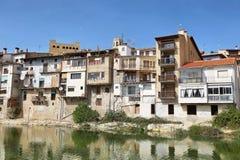 中世纪城市巴尔德罗夫雷斯在阿拉贡,西班牙 免版税库存照片