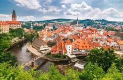 中世纪城市捷克克鲁姆洛夫 库存图片
