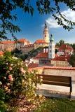 中世纪城市捷克克鲁姆洛夫 库存照片