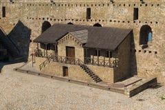 中世纪城市斯梅代雷沃细节在塞尔维亚 免版税库存照片