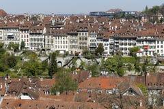 中世纪城市的urbanistic背景 免版税图库摄影