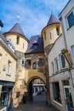 中世纪城市门在法肯堡,荷兰 免版税库存图片