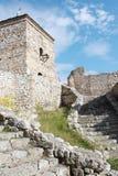 中世纪城楼和台阶 库存图片