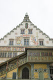 中世纪城镇厅林道 免版税库存照片
