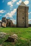 中世纪堡垒从14世纪在镇Bac中,塞尔维亚 免版税库存照片