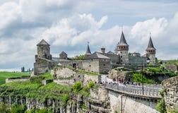 中世纪堡垒在乌克兰 库存照片