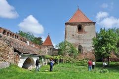 中世纪堡垒在特兰西瓦尼亚 库存图片