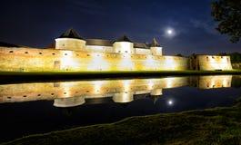 中世纪堡垒在罗马尼亚国家特兰西瓦尼亚,市Fagaras 免版税图库摄影