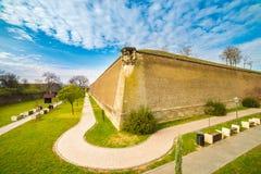 中世纪堡垒在阿尔巴尤利亚,特兰西瓦尼亚,罗马尼亚 免版税库存照片