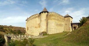 中世纪堡垒在霍京,乌克兰 库存图片
