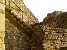 中世纪堡垒城堡moldovia cetatea neamtului 免版税图库摄影