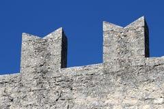 中世纪堡垒墙壁详细资料  免版税库存图片