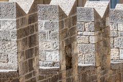 中世纪堡垒墙壁详细资料 marino圣 免版税库存图片
