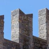 中世纪堡垒墙壁详细资料 marino圣 库存图片