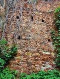 中世纪堡垒墙壁细节 免版税库存照片