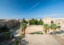中世纪堡垒墙壁  免版税库存照片