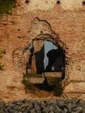 中世纪堡垒废墟在塞尔维亚 库存照片