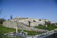 中世纪堡垒废墟在Drobeta Turnu-Severin 免版税库存图片