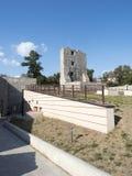 中世纪堡垒废墟在Drobeta Turnu Severin 免版税库存照片
