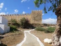 中世纪堡垒的塔 免版税库存图片
