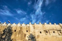 中世纪堡垒的墙壁 库存照片