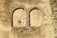 中世纪堡垒的老墙壁在贡德尔,埃塞俄比亚 免版税库存照片