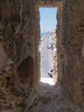 中世纪堡垒窗口 免版税库存照片