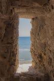 中世纪堡垒窗口 免版税库存图片