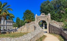 中世纪堡垒老门在纳夫普利翁,希腊 免版税库存照片