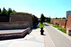 中世纪堡垒阿尔巴尤利亚,晨曲,特兰西瓦尼亚 图库摄影