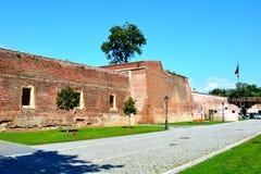 中世纪堡垒阿尔巴尤利亚,特兰西瓦尼亚 库存图片
