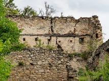 中世纪堡垒Saschiz的墙壁在特兰西瓦尼亚 库存图片