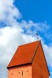 中世纪塔看法在里加,拉脱维亚 库存图片