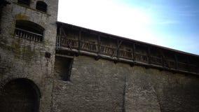 中世纪塔-一部分的城市墙壁 爱沙尼亚塔林 影视素材