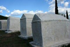 中世纪墓碑 库存图片