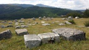 中世纪墓碑 免版税库存照片