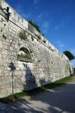 中世纪墙壁在罗维尼,克罗地亚 库存图片