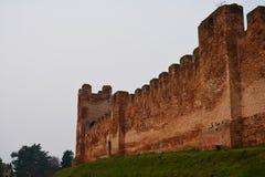 中世纪墙壁在Castelfranco,意大利 免版税图库摄影