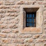 中世纪墙壁窗口 免版税库存照片