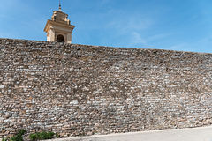 中世纪墙壁 库存照片