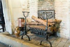 中世纪壁炉 免版税图库摄影