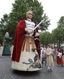 中世纪壮丽的场面在布鲁塞尔 免版税图库摄影