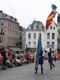 中世纪壮丽的场面在布鲁塞尔 免版税库存照片
