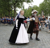 中世纪壮丽的场面在布鲁塞尔 图库摄影