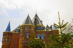 """中世纪大厦""""De Waag """"在阿姆斯特丹荷兰 库存照片"""