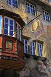 中世纪大厦在斯坦上午莱茵,瑞士 库存照片