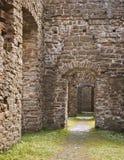中世纪大厦废墟 免版税库存图片