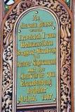 中世纪大厦被绘的门面在康斯坦茨 免版税图库摄影